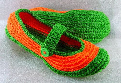 crochet indoor shoes