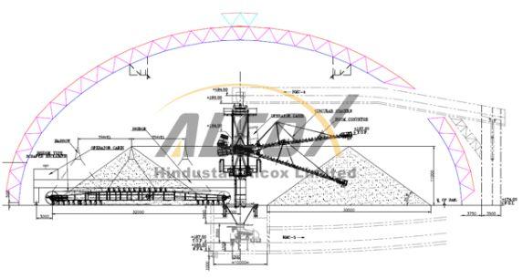 Coal storage sheds | Dome Structure Space Frame Design | Pinterest ...