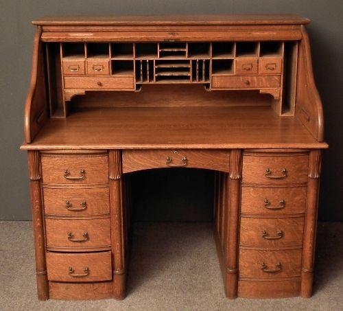 Ca 1920s Rolltop Desk Antique Desk Desk Roll Top Desk