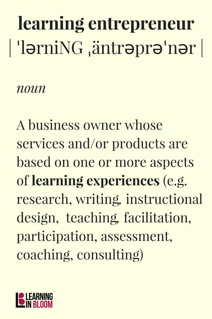 Learning Entrepreneur Definition Learn Business Student Leadership