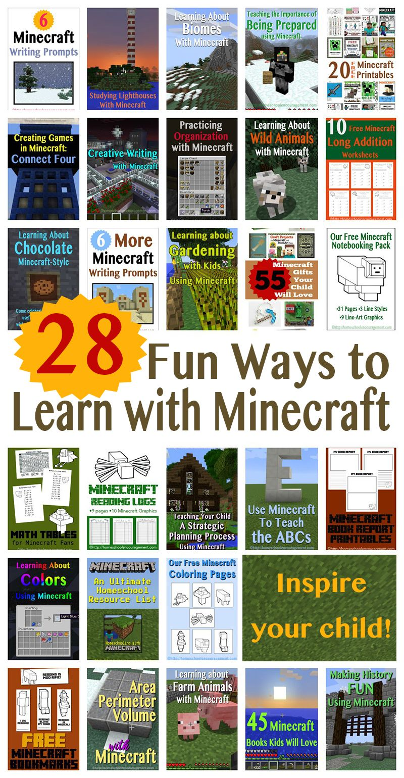 Learning With Minecraft Homeschool Minecraft Minecraft School Homeschool Encouragement [ 1540 x 800 Pixel ]