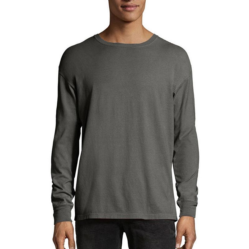 Hanes Mens Crew Neck Long Sleeve Cooling T Shirt Long Sleeve