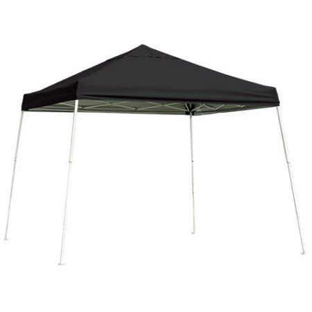 10 X 10 Pro Pop Up Canopy Straight Leg Black Cover Canopy Metal Grill Patio Canopy