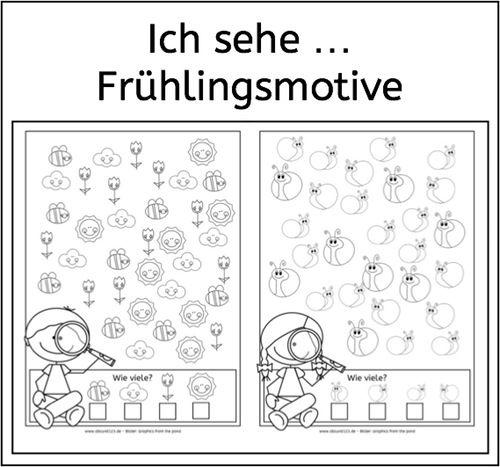 Ich sehe ... Frühlingsmotive - | Frühlingsmotiv, Wahrnehmung und ...