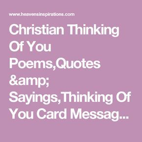 Christian thinking of you poemsquotes sayingsthinking of you christian thinking of you poemsquotes sayingsthinking of you card messages m4hsunfo Choice Image