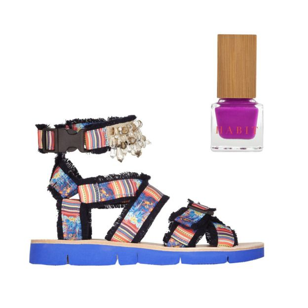 Kathleen Hou of The Cut paired Habit with this nuts MSGM pair, and I'm feeling it! http://nymag.com/thecut/2014/05/50-flat-sandals-and-the-nail-polish-to-match/slideshow/2014/05/14/sandals_and_polish/32/