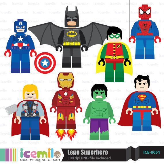 Lego Superhero Digital Clipart Free Lego Lego Birthday Party Superhero Birthday