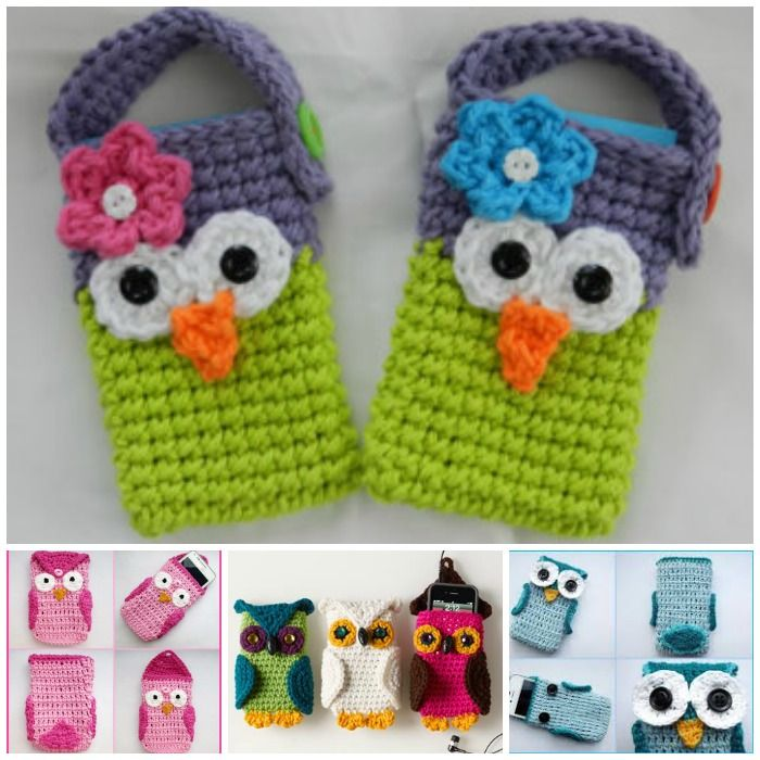 20+ Super Cute Crochet Knitted Owl Patterns | Crochet owls, Cell ...