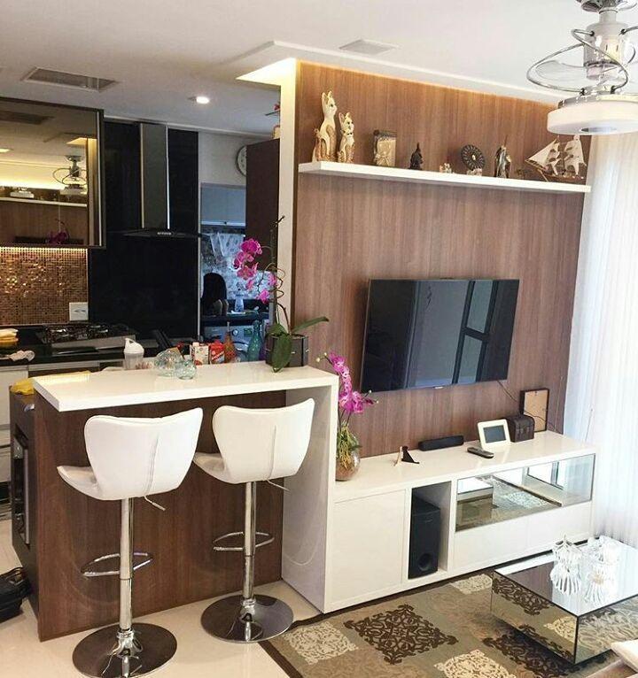 Pin De Pry Dam Em Decoracao Apartamentos Em 2020 Sala E Cozinha