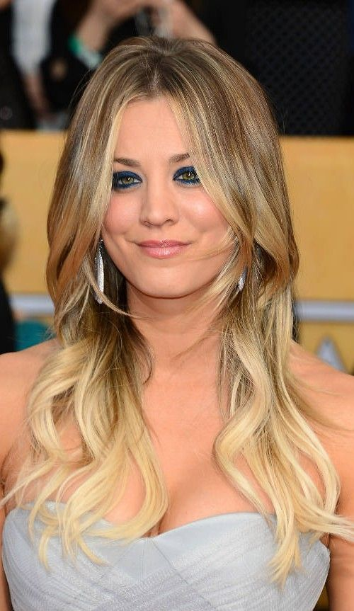 Kaley Cuoco Blonde Ombre Favorite Ombre And Balayage Looks 2016