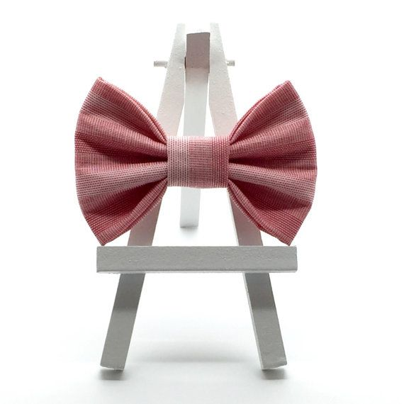 Red and Pink Stripe Hair Bow, Classic Hair Bows for Little Girls, Vintage Fabric Hair Bows for Little Girls, Little Girl Hair Accessory