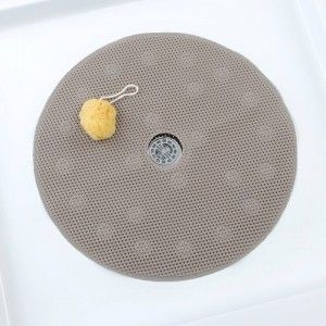 Comfort Foam Shower Mat With Center Drain Hole Round Pvc Foam Mat
