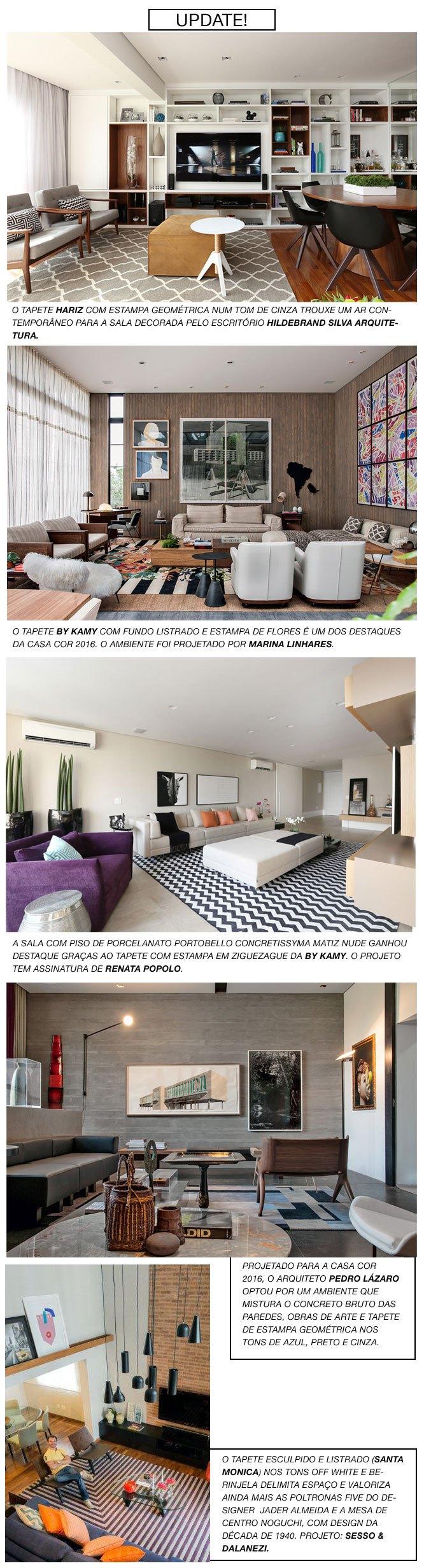 Quer apostar em uma tendência para decorar a casa que nunca sai de moda? Os tapetes com estampa geométrica são atemporais, deixam o lar sofisticado e com um ar contemporâneo. Sejam nas versões em p…