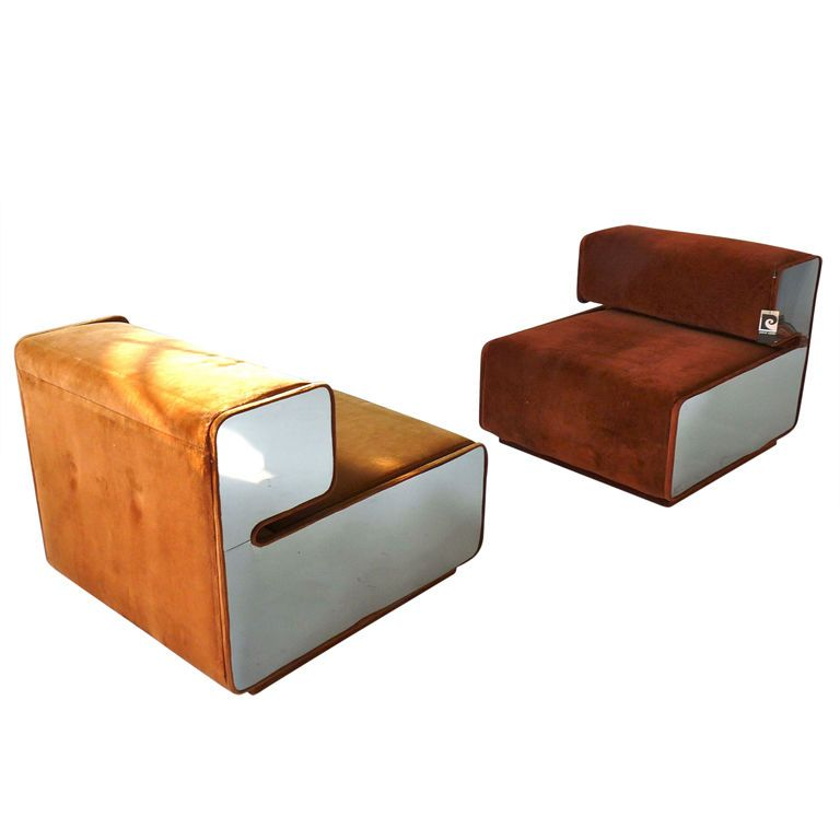 Rare pair of pierre cardin lounge chairs pierre cardin tables and modern - Chaise cobra studio pierre cardin ...