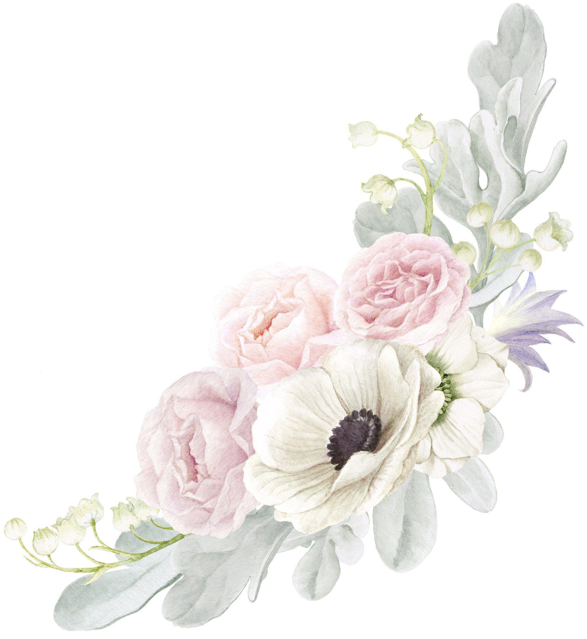 Открытка, акварельные картинки цветов для приглашений