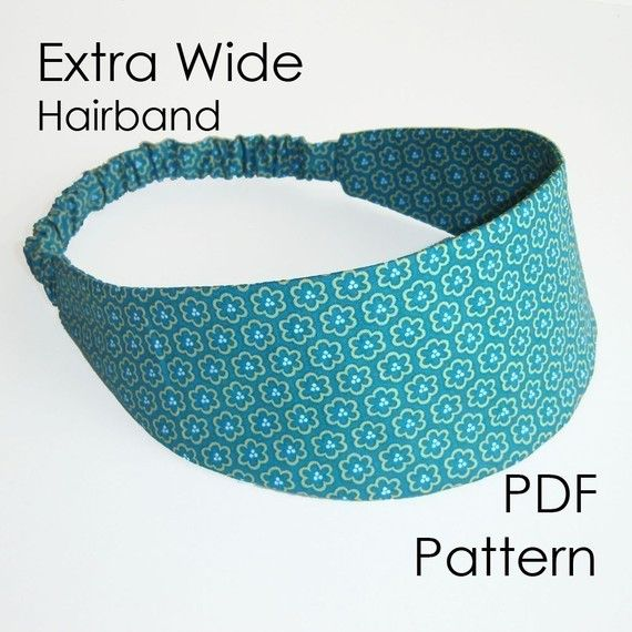 Hairband Sewing Pattern Extra Wide Headband Pdf Pattern Diy