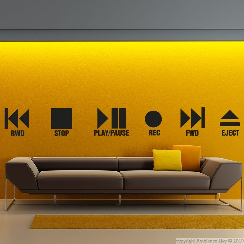 These music #wall #decals and this wall decal Play and stop can give ...