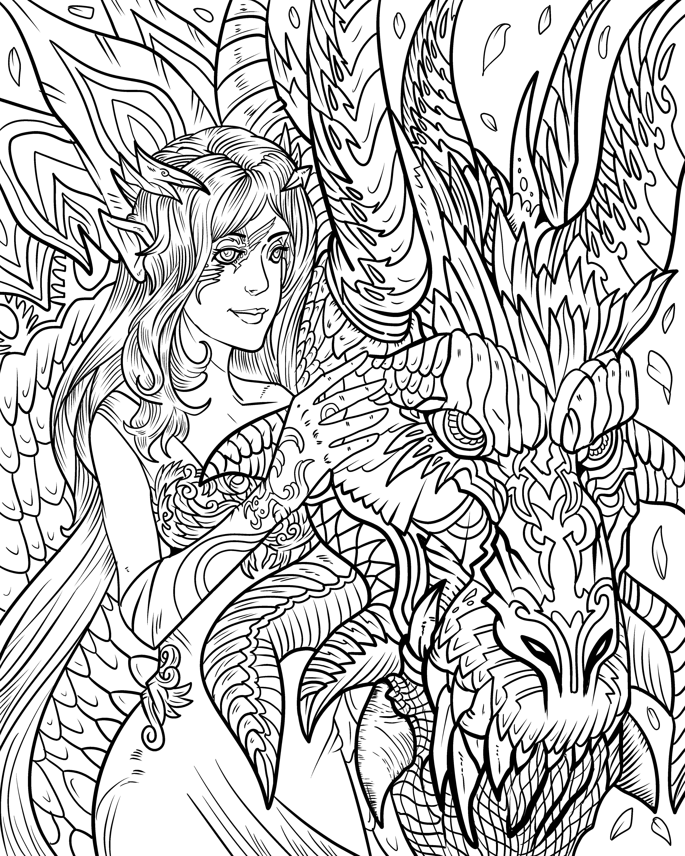 P 9 1 Jpg 4800 6000 Dragon Coloring Page Mandala Coloring Pages Coloring Books