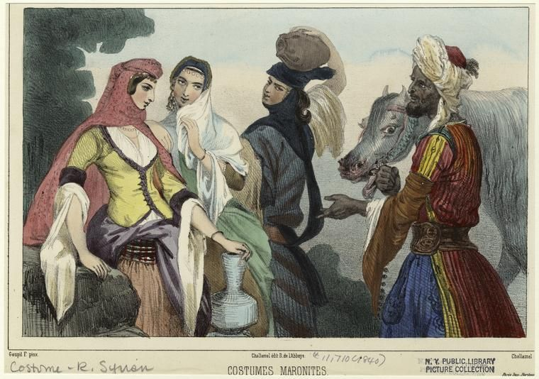 Costumes of the maronites with images renaissance