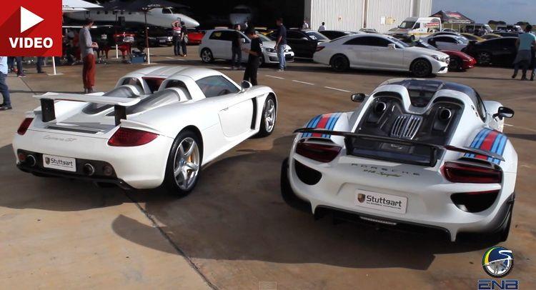 Past Vs. Present: Porsche Carrera GT Takes On 918 Spyder | Porsche