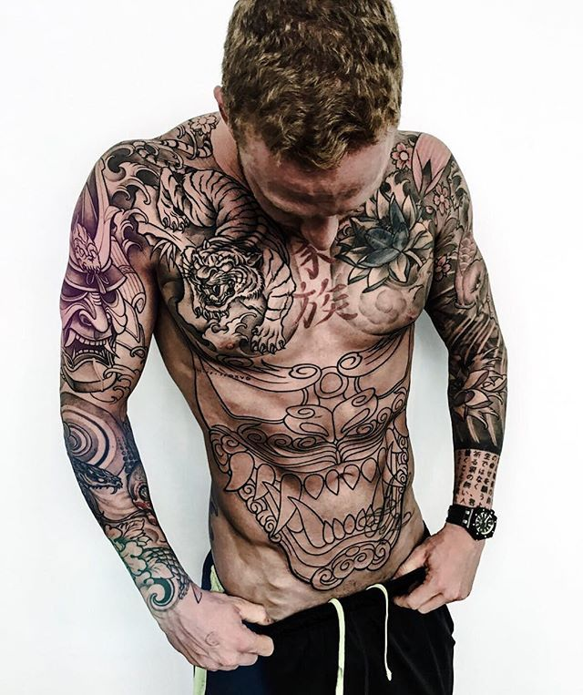Amazing Tattoos Model Adalbertomarconpersonaltrainer Torso
