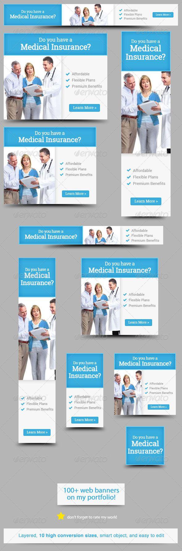 Design banner minimalist - Buy Medical Insurance Web Banner Design By Admiral_adictus On Graphicriver Clean And Minimalist Medical Insurance Web Banner Design Banner Design