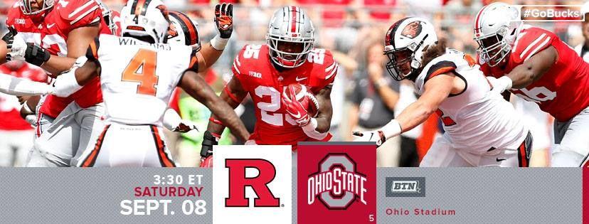 9 8 2018 Game 2 Rutgers Vs The Pregame Facebook Cover Osu Football Pregame Ohio State