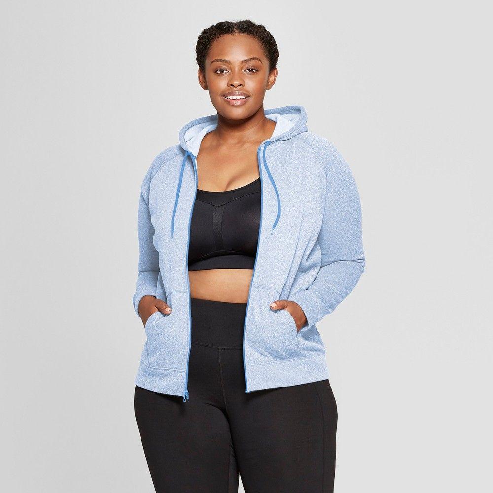24412b934655a2 Women s Plus Size Tech Fleece Full Zip Sweatshirt - C9 Champion Blue ...