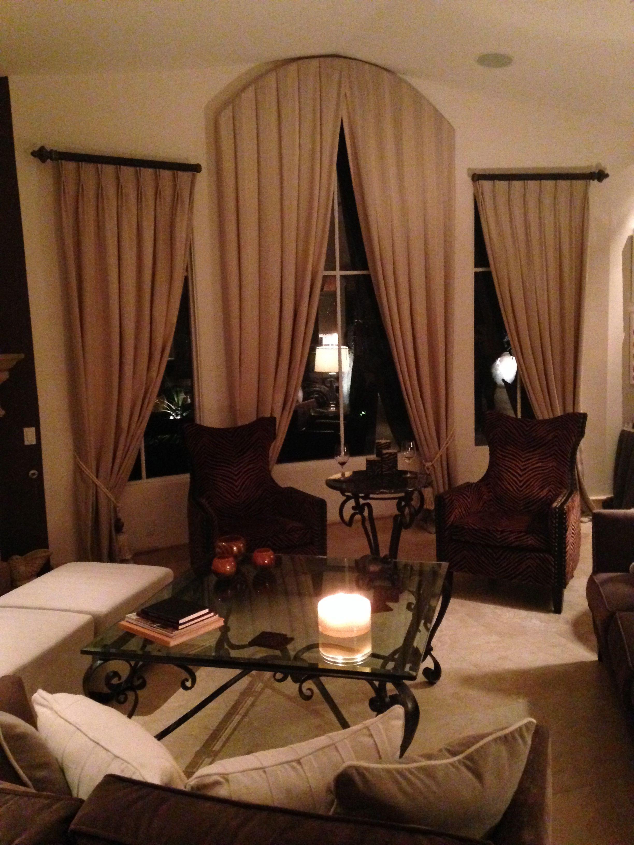 Window treatment design by Cielo Interiors
