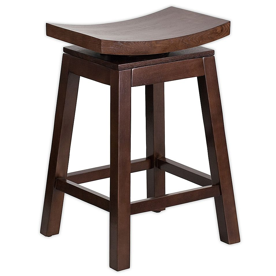 Flash Furniture Saddle Seat Stool In Cappuccino Saddle Seat Bar Stool Counter Height Stools Wood Counter Stools