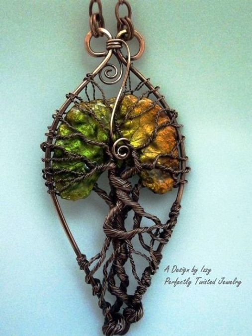 noch ein Baum des Lebens: Draht, Garn, Fimo? ---- great tree of life ...