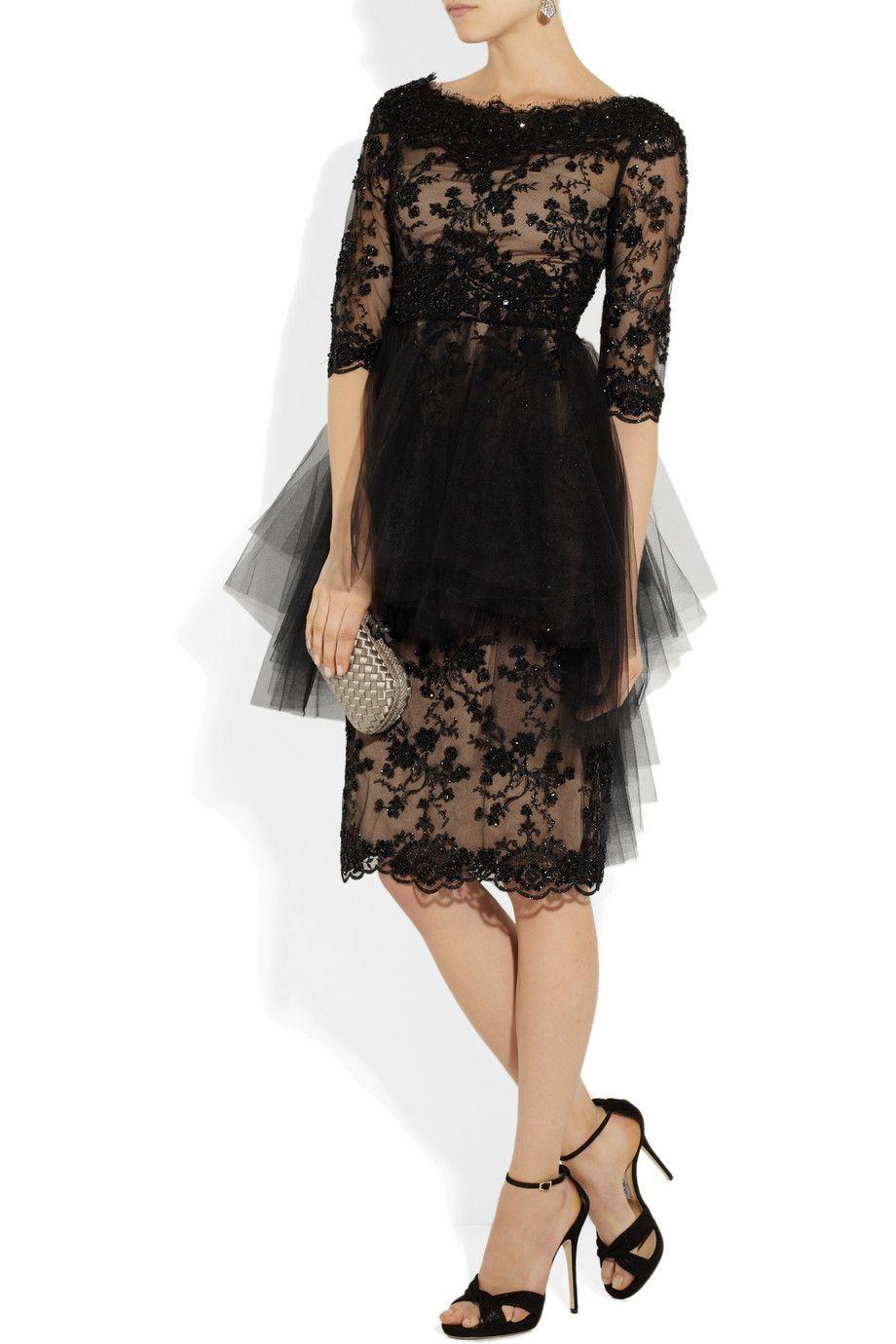 Marchesa|Embellished tulle dress  $3,995