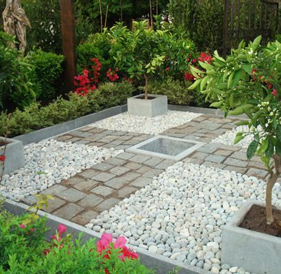 La cantera adoquines de piedras naturales plantas y - Piedras para jardineras ...