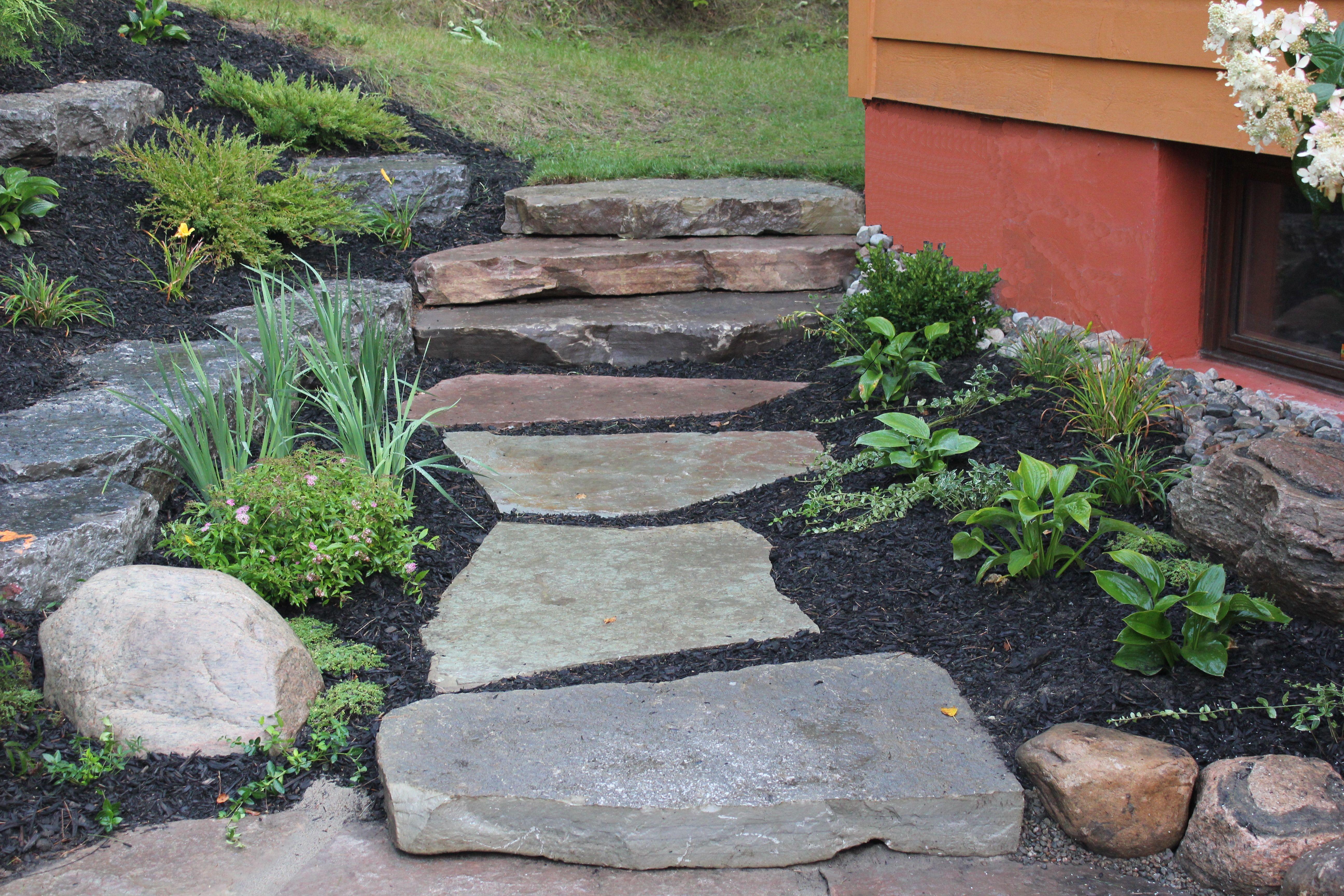 Natural Stone Stepping Stone Walkway Beautiful Gardens Garden Stones Stepping Stone Walkways