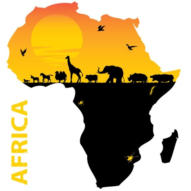 Map of The Continent of Africa Where SO many animals that are
