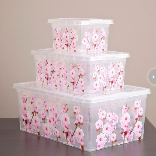 Decorative Plastic Storage Boxes With Lids 8 Home Office Organizing Essentials  Cherry Blossoms