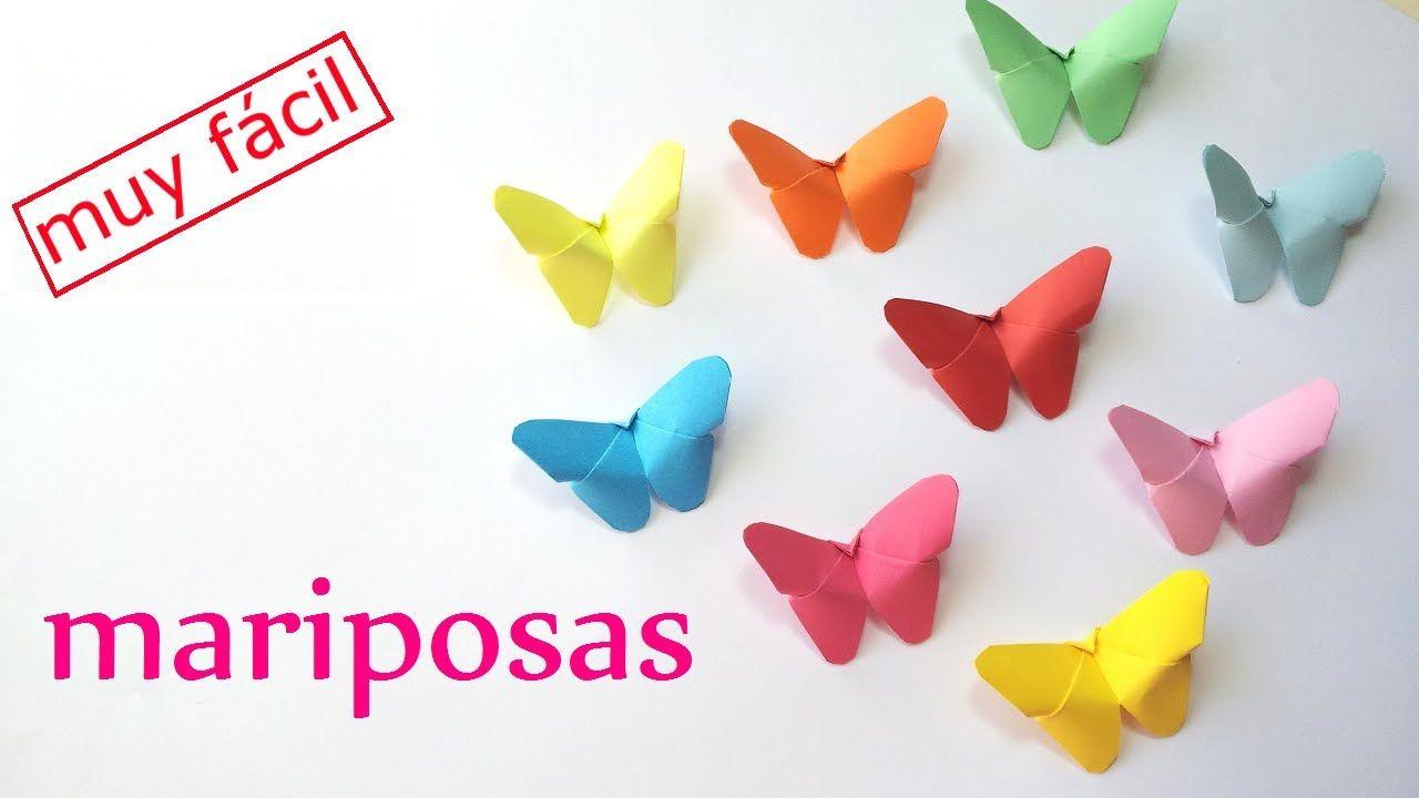 Manualidades Mariposas De Papel Facil Y Rapido Innova