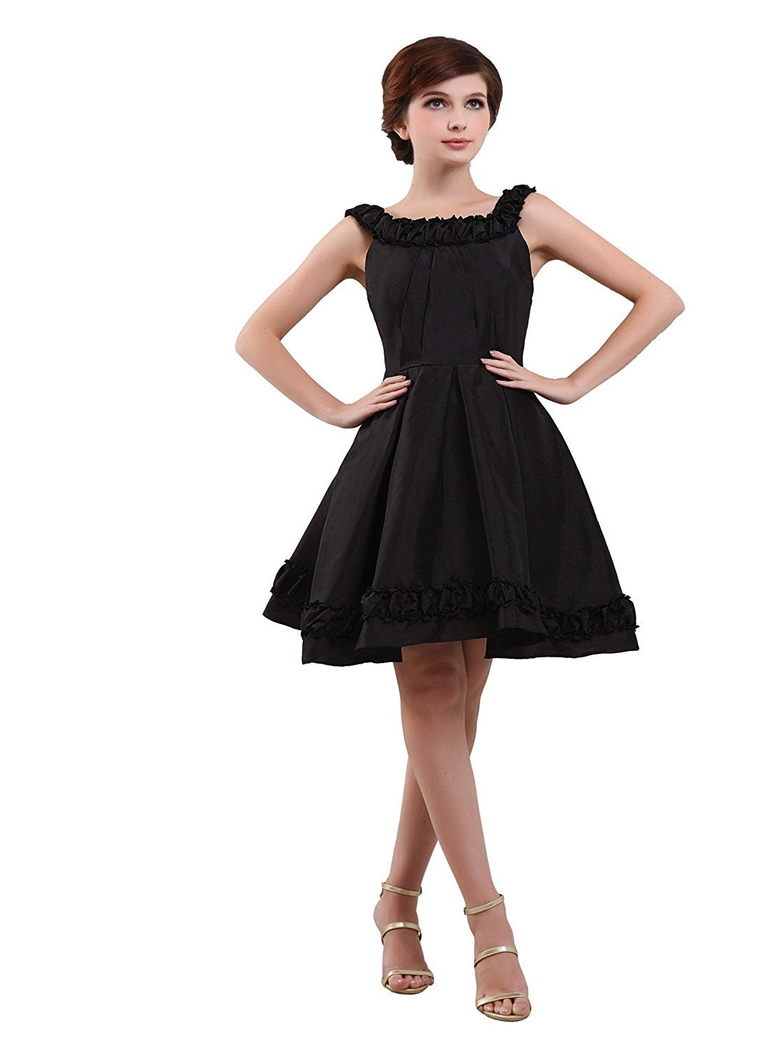 Angel formal dresses jewel poretrait knee length taffeta prom dress