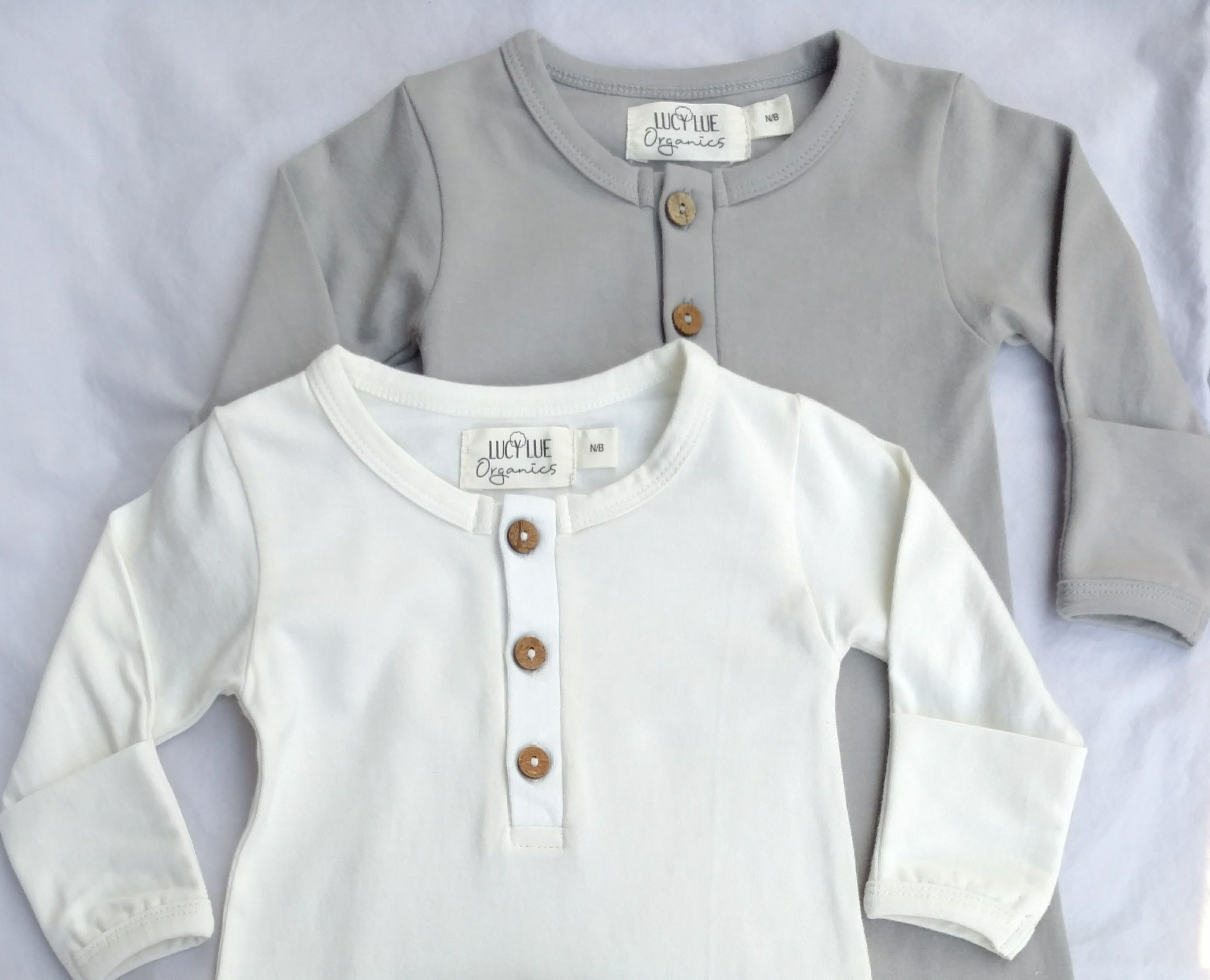 Newborn ing home outfit from Lucy Lue Organics Layette set Baby