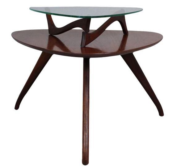 Vladimir Kagan Style Two Tier Side Table