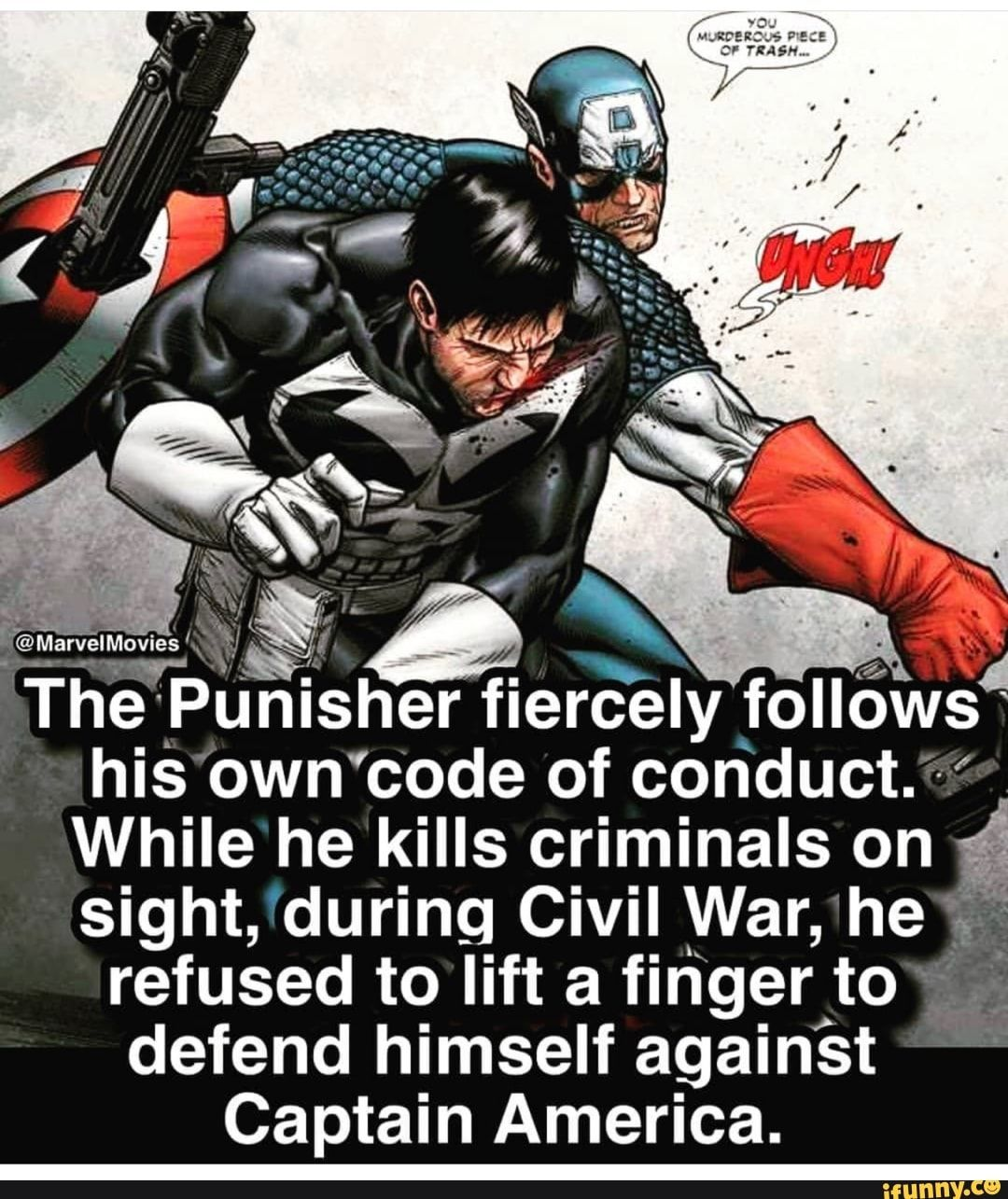 -@Marveles * % Óx ' The Punisher fiercely follóws his own ...