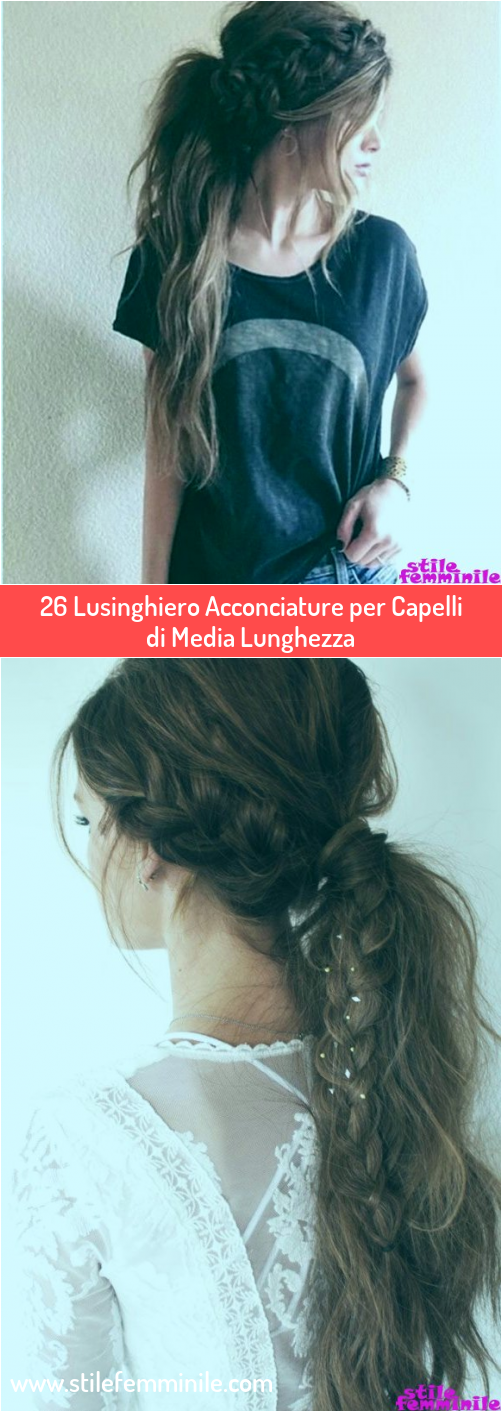 Photo of 26 Lusinghiero Acconciature per Capelli di Media Lunghezza