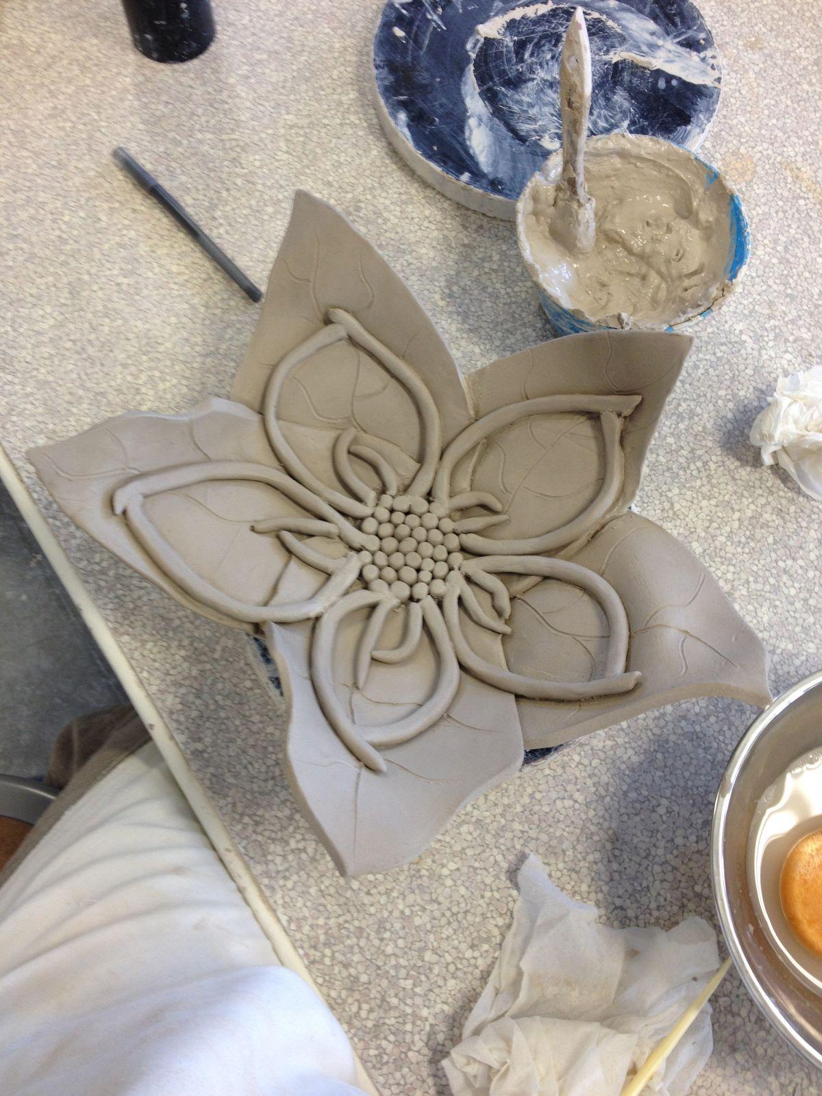 Blume aus ton keramik pinterest blumen keramik und keramik blumen - Ideen aus ton ...
