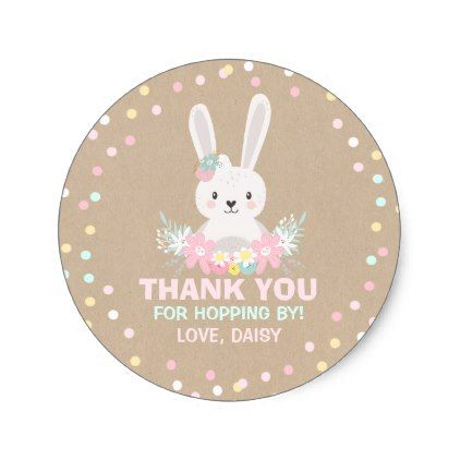 Bunny birthday party favor tag some bunny sticker bunny birthday party favor tag some bunny sticker craft supplies diy custom design supply special negle Choice Image