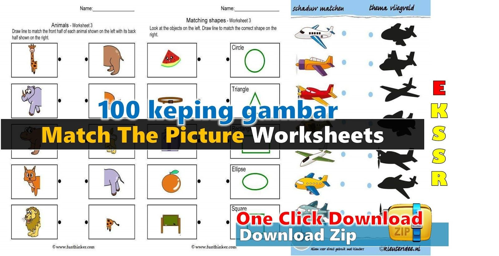 Match The Picture Worksheets