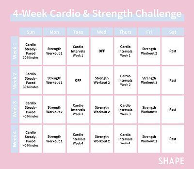 try this 4week workout plan when your fitness routine is