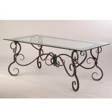 Table En Fer Forge Avec Plateau En Verre Luna Rectangle Ou Ovale Entryway Tables Table Decor