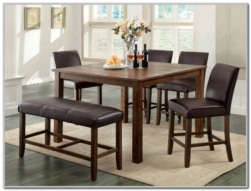 Counter Height Dining Sets With Bench Seating Dining Set With Bench Counter Height Dining Sets Neutral Dining Room