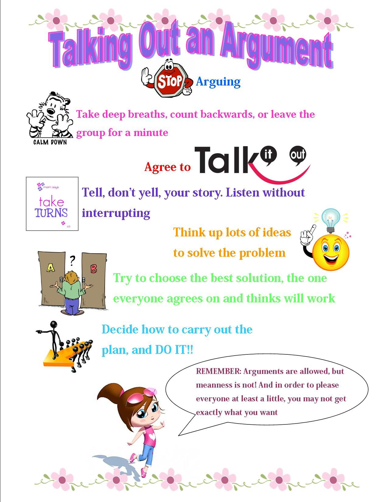 A Handout For An Girls Group On Friendship