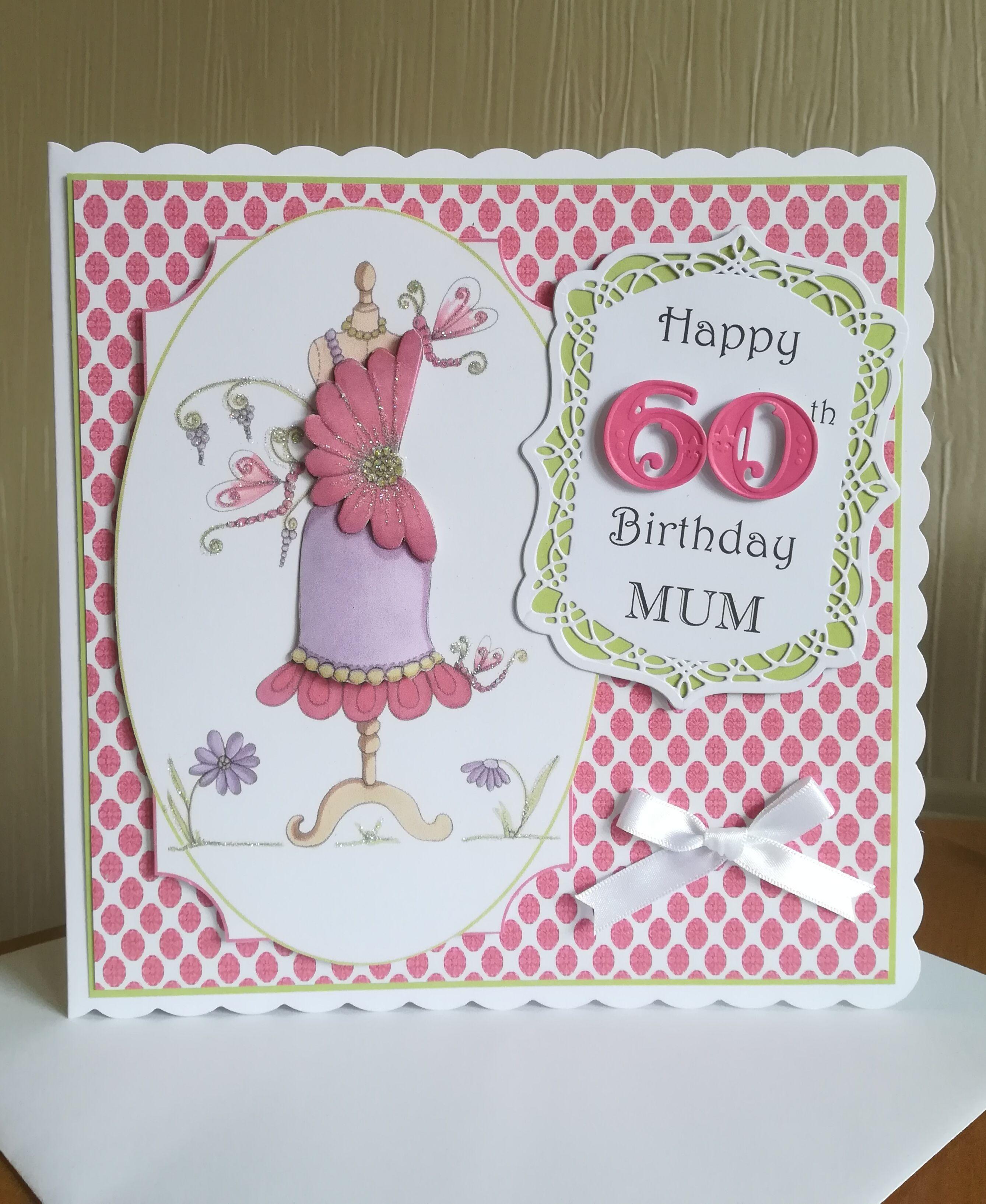 60Th Birthday Card Lady Dress